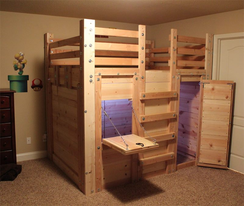 Cabin bed plans palmetto bunk beds for How to build a small cabin with a loft