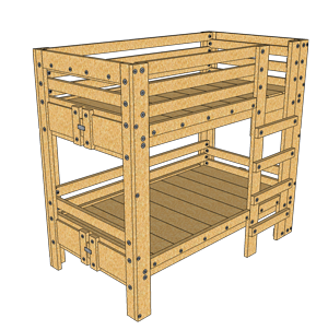 Twin Bunk Bed Plans Palmetto Bunk Beds