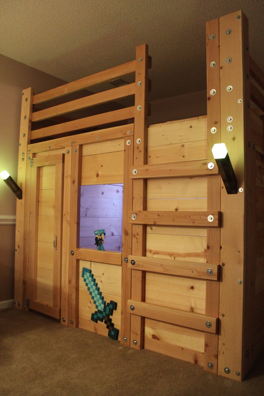 Minecraft Themed Room | Palmetto Bunk Beds