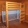 White lofted Twin Bed With LED Lighting