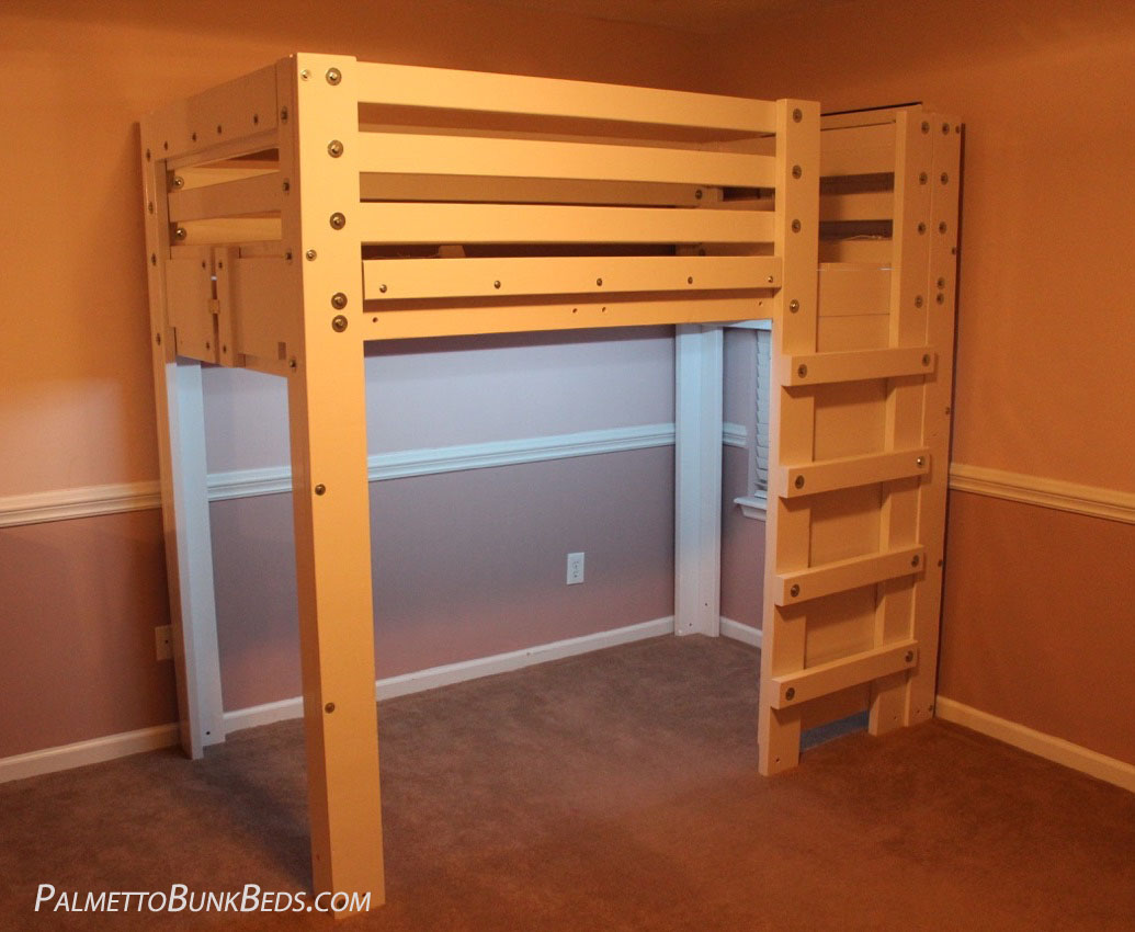 Twin loft bed plan palmetto bunk beds Loft bed plans